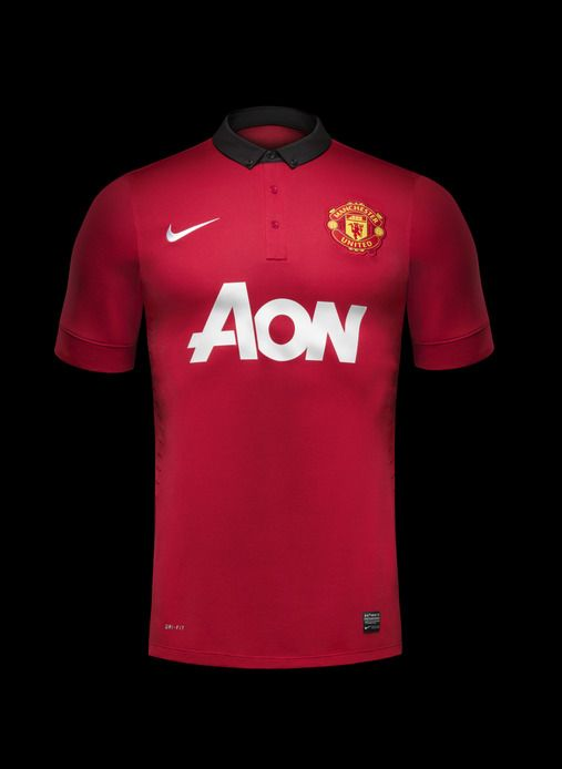 June 5 2013 Nike Unveils Manchester United Home Kit For 2013 14 New Kit Is Inspired By Club S H Manchester United Home Kit Soccer Outfits Manchester United