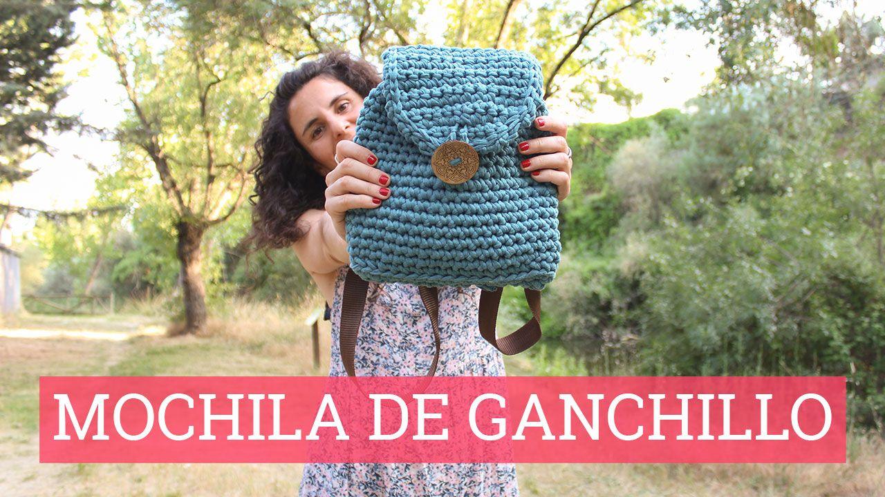 Vídeo tutorial de cómo hacer una mochila de ganchillo | Ganchillo ...