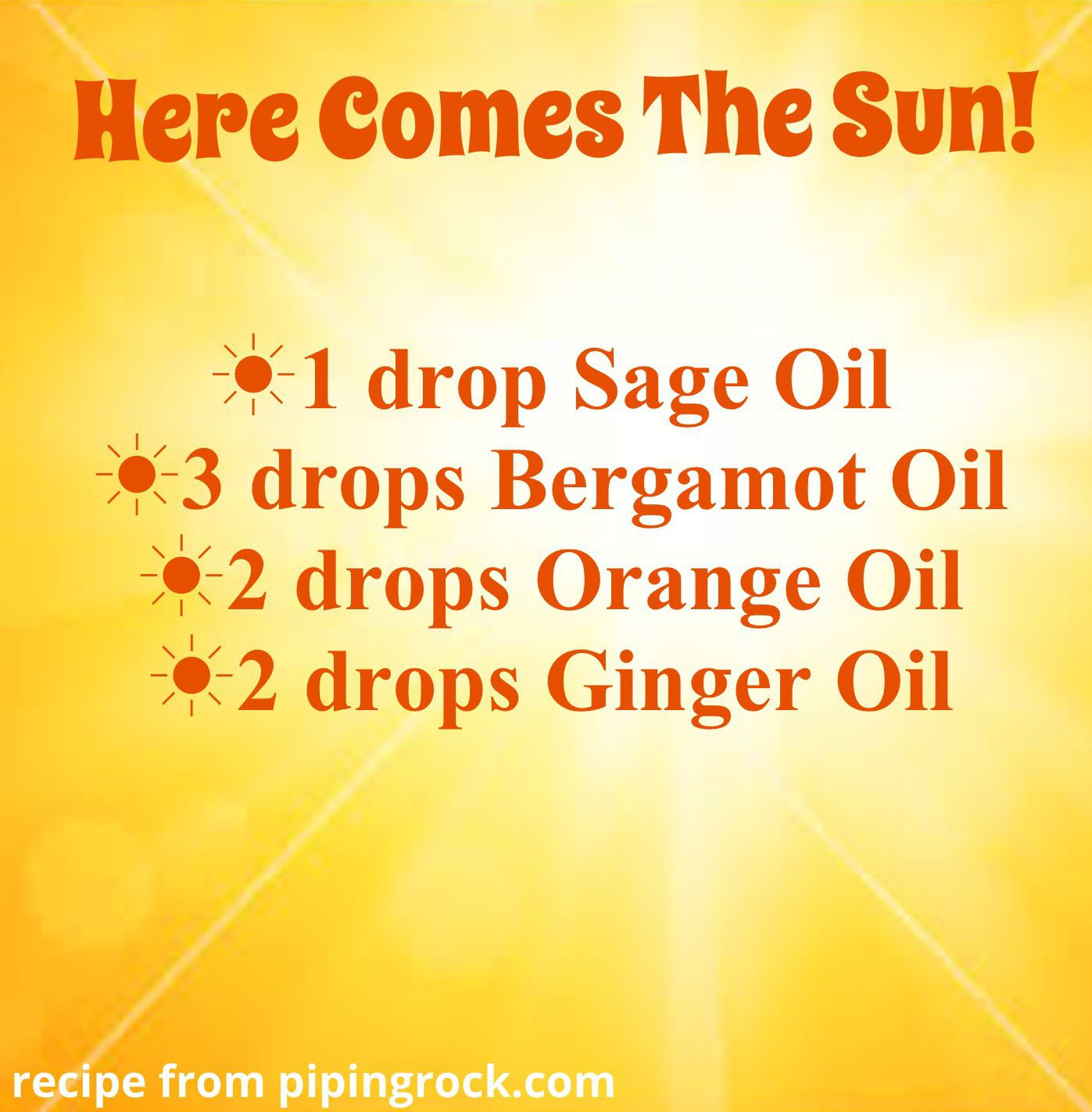 Here Comes The Sun Diffuser Blend Shower Yourself With