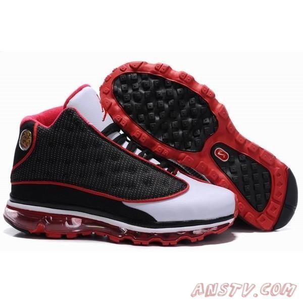 Nike Air Jordan 13 Air Max Fusion Blanc Noir Rouge Air Jordan ...
