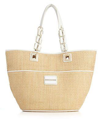 calvin klein handbag straw tote macy s my style pinterest