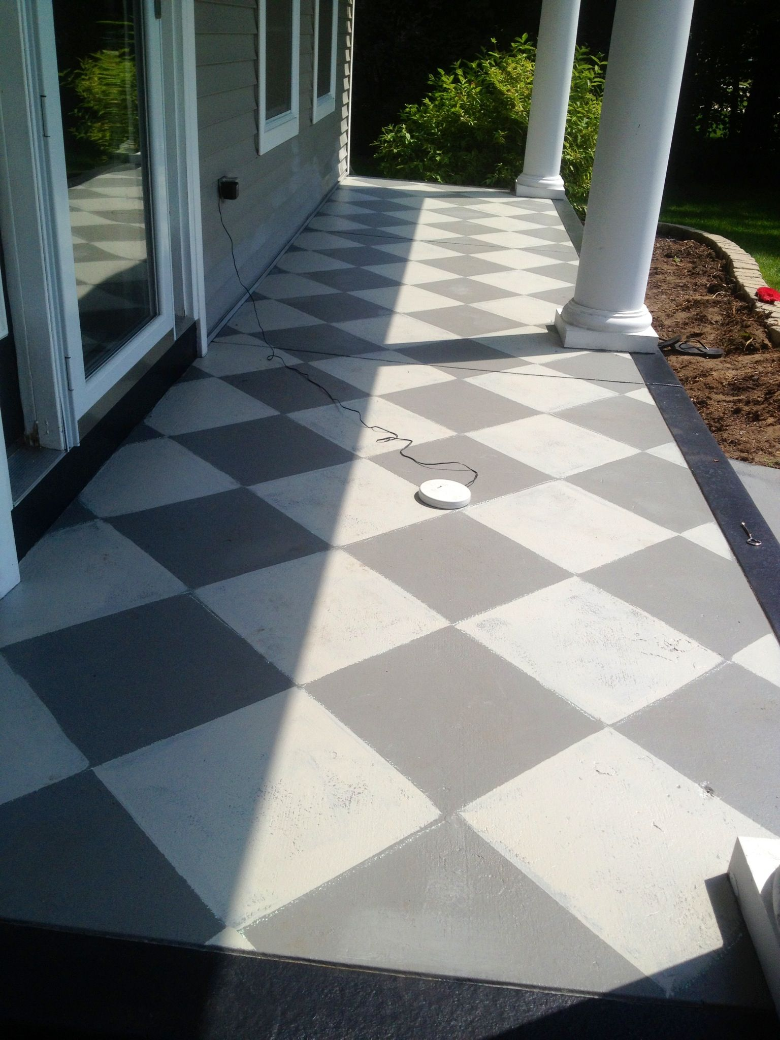 I Painted My Cement Slab Front Porch For An Inexpensive Update