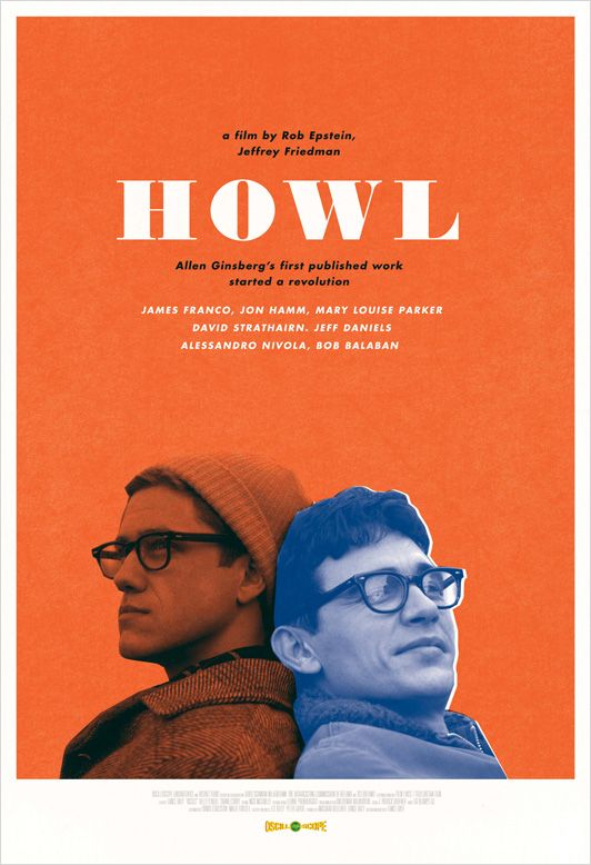 HOWL - book cover inspiration Allen Ginsberg James Franco ...