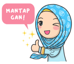 flower hijab daily talk sticker 8286542 line sticker islamic cartoon hijab cartoon islamic cartoon hijab cartoon