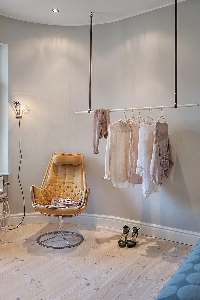 DIY clothes rail \/\/ selbstgemachte Kleiderstange Inspiration