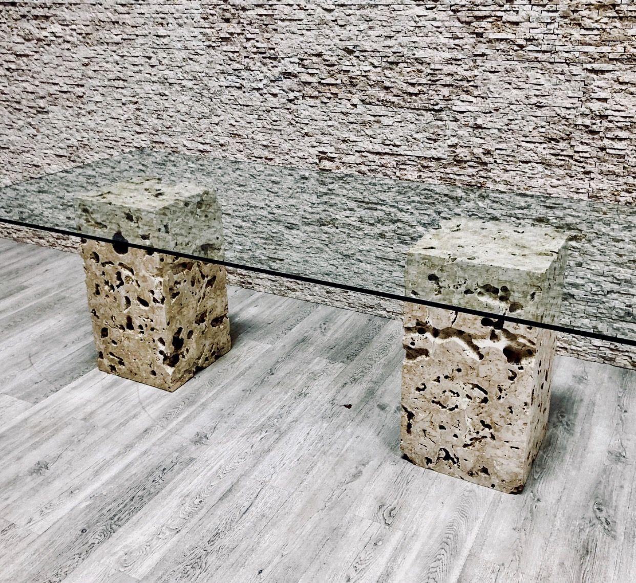 Mesa De Comedor Con Pies De Piedra Natural Mesa De Piedra Mesa De Comedor Baños Con Piedra