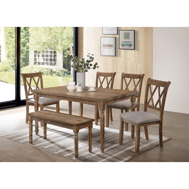 Bedlington 6 Piece Dining Set Furniture Dining Set With Bench