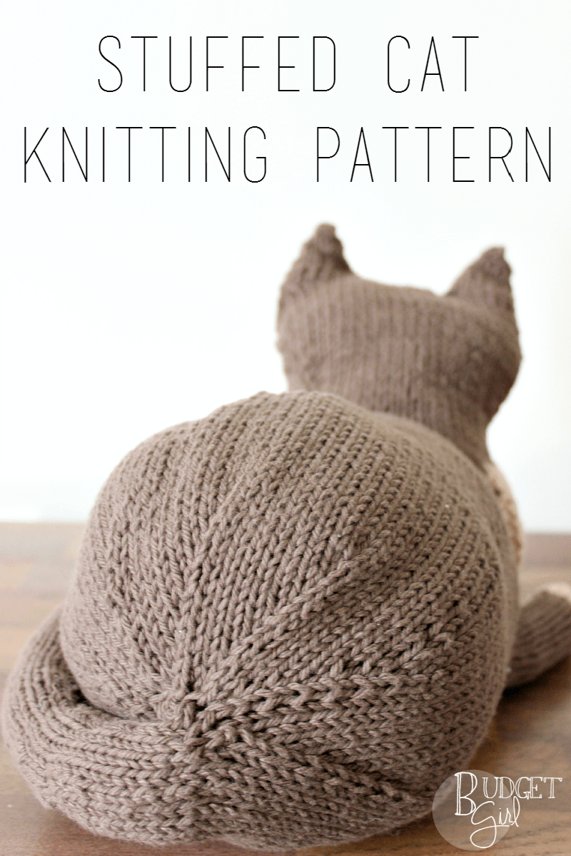 Cat Design Knitting Pattern : Stuffed Cat Knitting Pattern Knitting patterns, Knit patterns and Cat