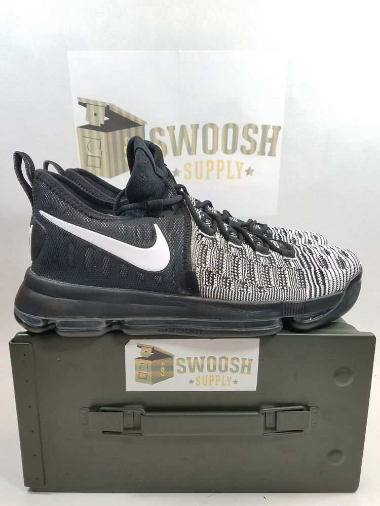 a58091139639 NIKE ZOOM KD 9 843392-010 Oreo Black White Basketball Shoes Men s US Size  9.5  Nike  BasketballShoes