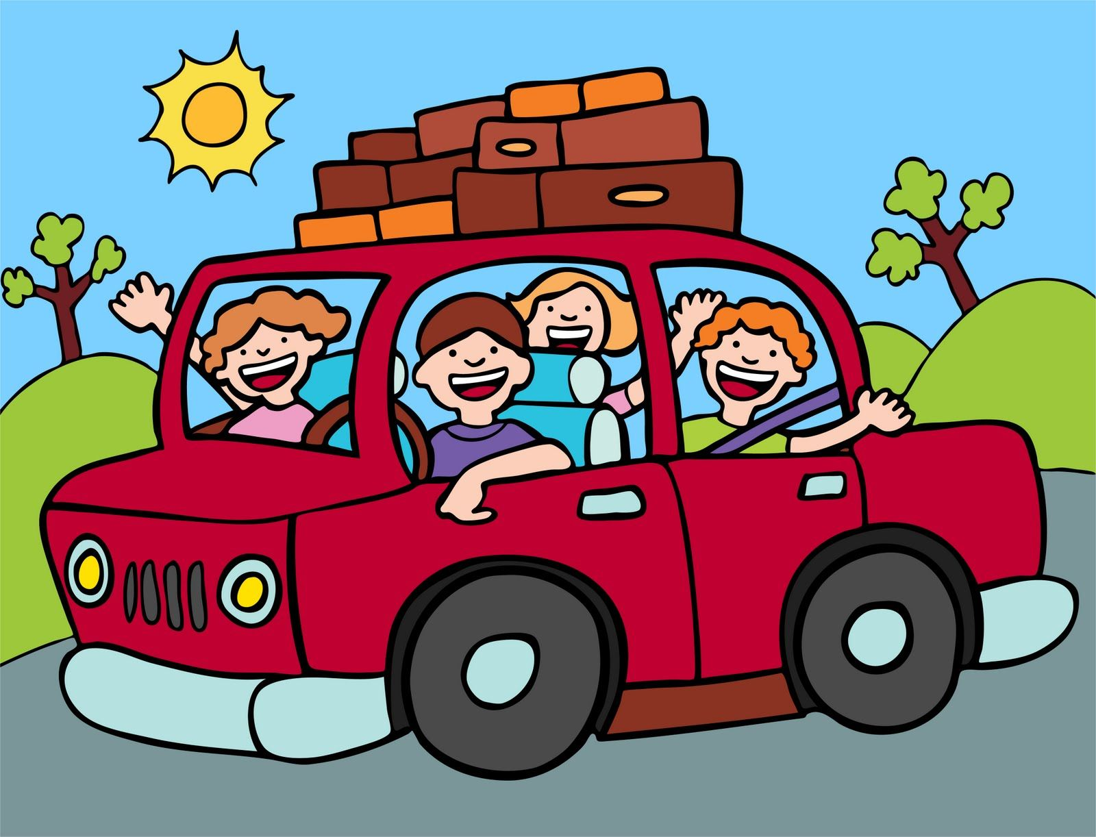 Car Road Trip Clip Art I need a vacation. What about you ...