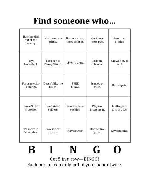 Getting to know you gaming team building and activities for Ice breaker bingo template