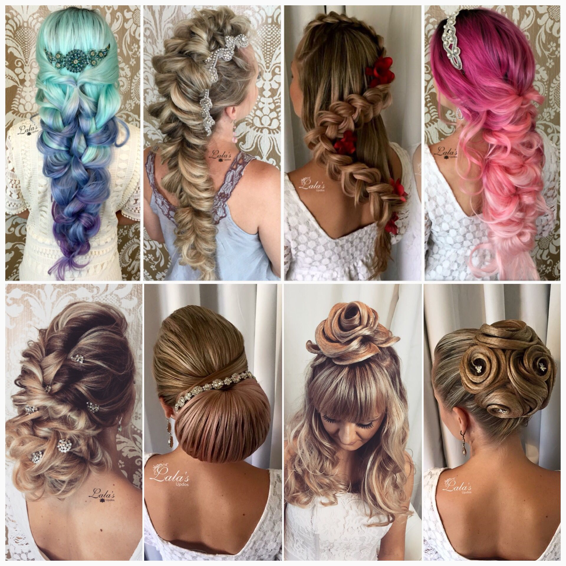 braids / big braids / updos / upstyles / wedding hair