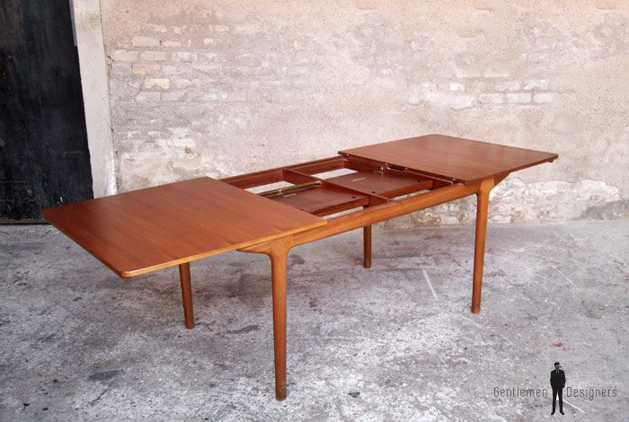 mobilier table teck table vintage