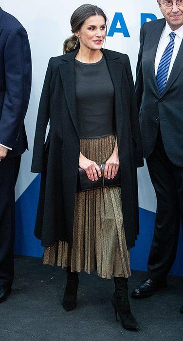 Stop Everything. Queen Letizia Just Wore This Metallic