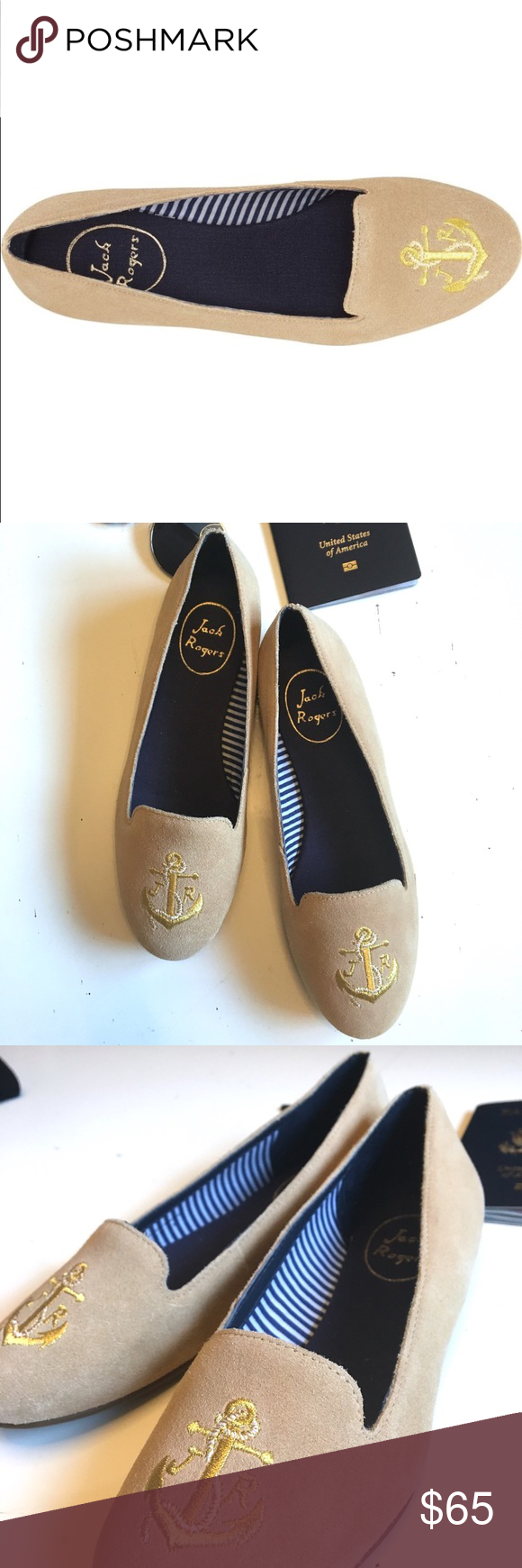 82cf6d86efc JACK ROGERS Suede Anchor Loafers Never worn!!Ahoy matey! The fine loafer  feature