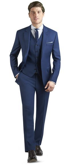 fdb57b95698 Islington Plain Blue 3 Piece Slim Fit Suit | 002) Blue Suits in 2019 ...