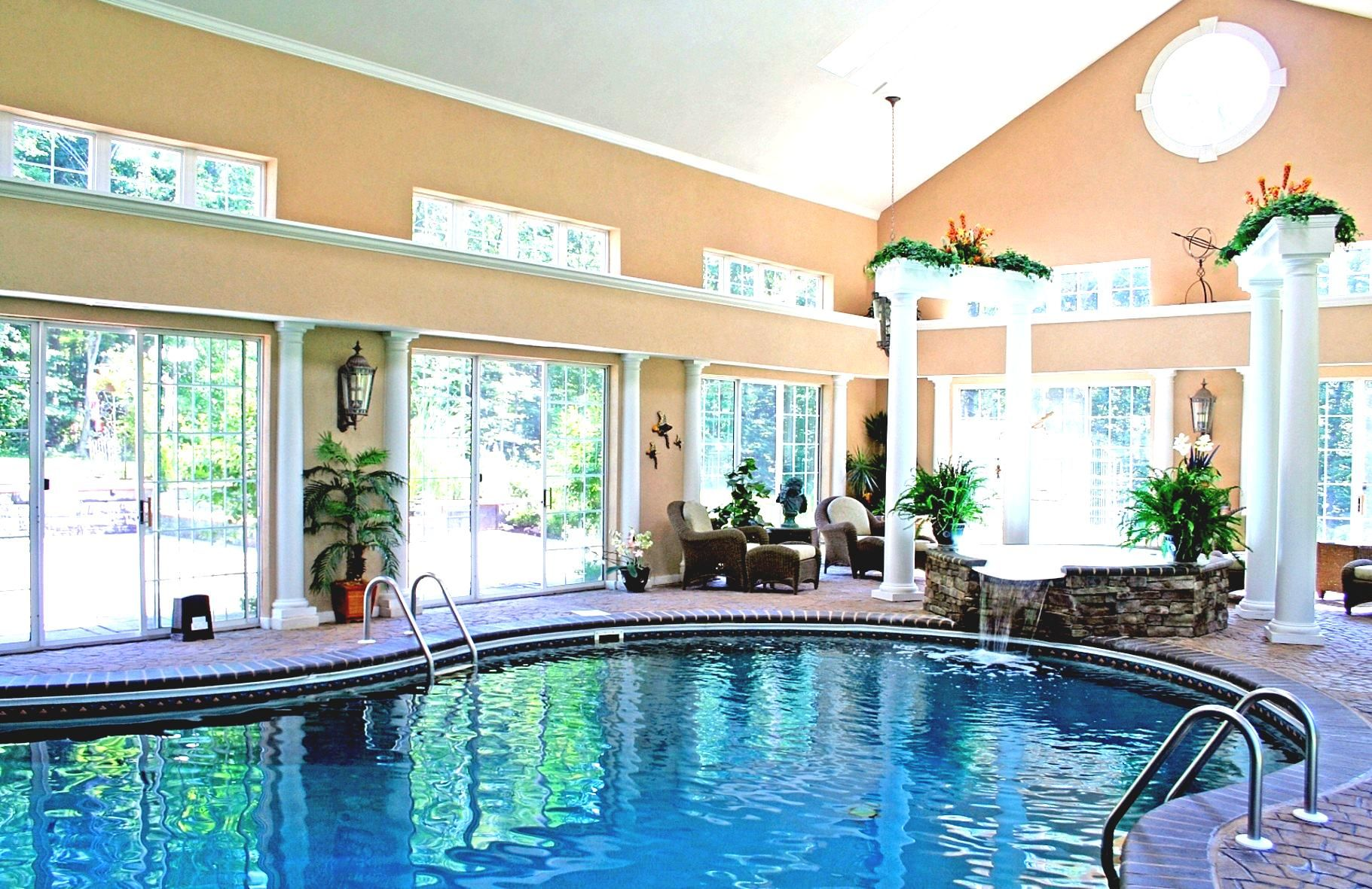 Home indoor pool and hot tub  modern house design with swimming pool wonderful indoor pathway amp ...