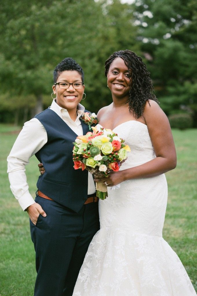 Sheika & Morgan. Lesban wedding. Bride in a suit. | And now we are ...