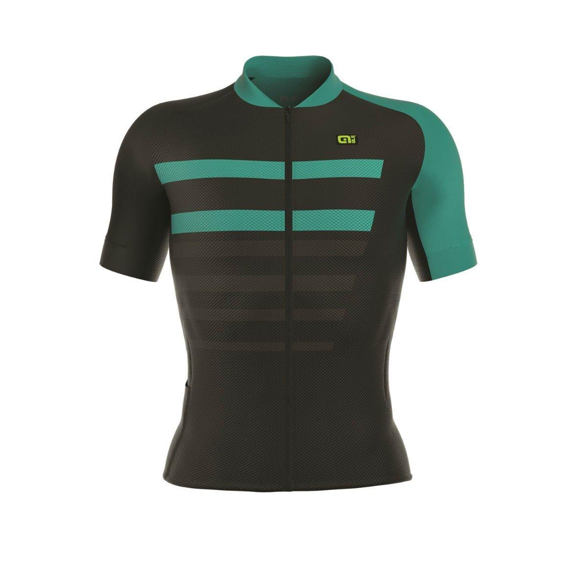 Ale SS17 PRR 2.0 Piuma Short Sleeve Jersey Black Turquoise  0a924eda4
