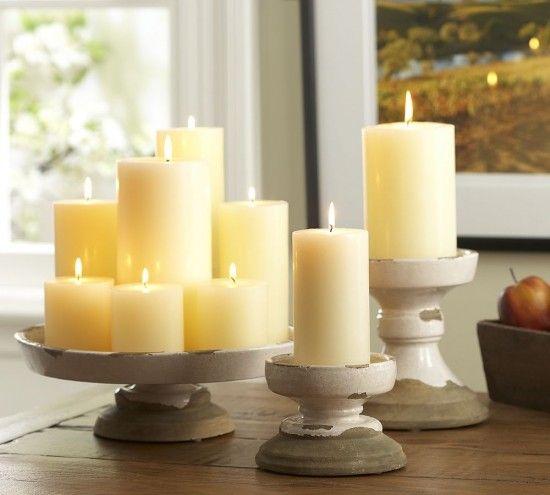 pillar candle centerpieces wedding decoration