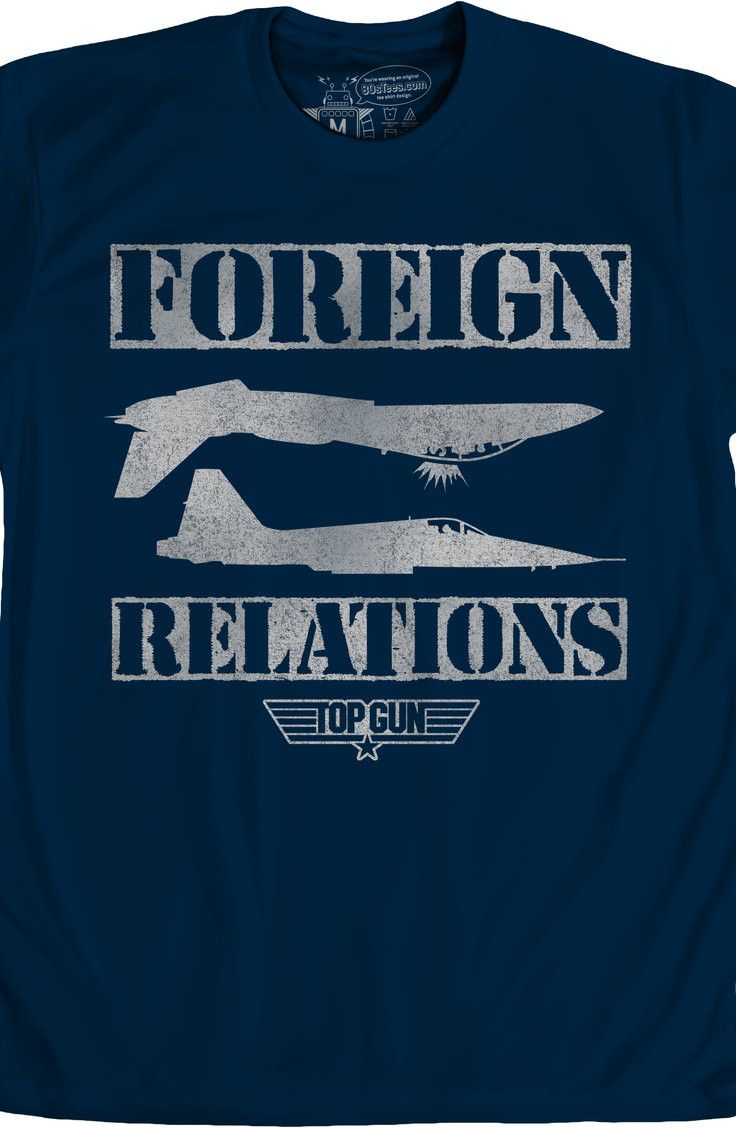 55f5c906 Foreign Relations Top Gun T-Shirt: 80s Movies Top Gun Mens T-Shirt ...