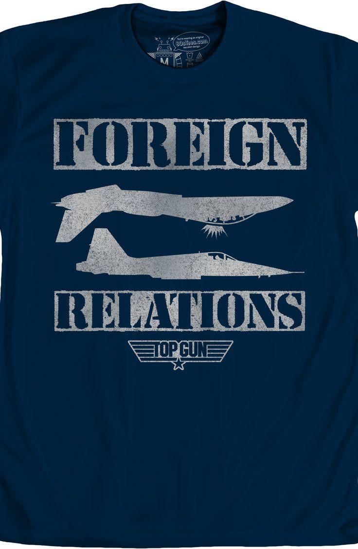 bcb144fa6 Foreign Relations Top Gun T-Shirt: 80s Movies Top Gun Mens T-Shirt ...