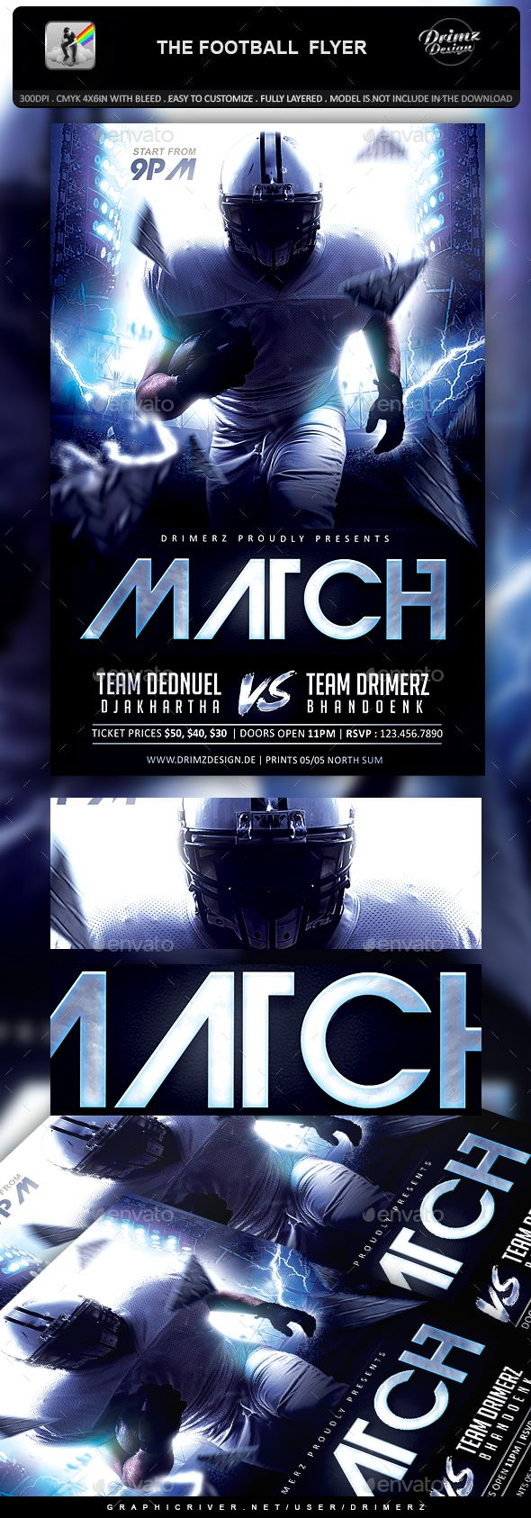 The Football Flyer Flyer Template Template And Graphics