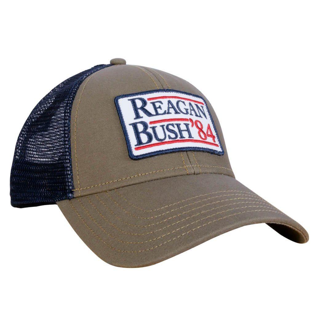 fa23714db Rowdy Gentleman Meshback Hat- Reagan Bush '84- Khaki from Shop ...