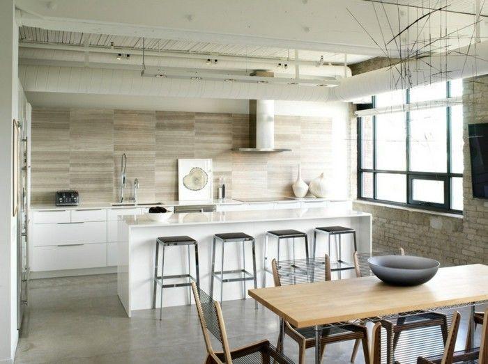 Le Carrelage En Marbre En 42 Photos Kitchens Kitchen Wall