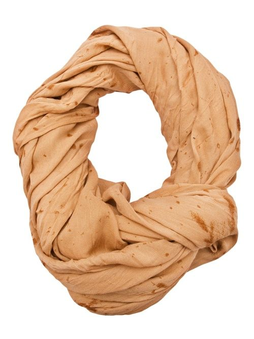 Love the peachy tone need to know how to tie scarf like this