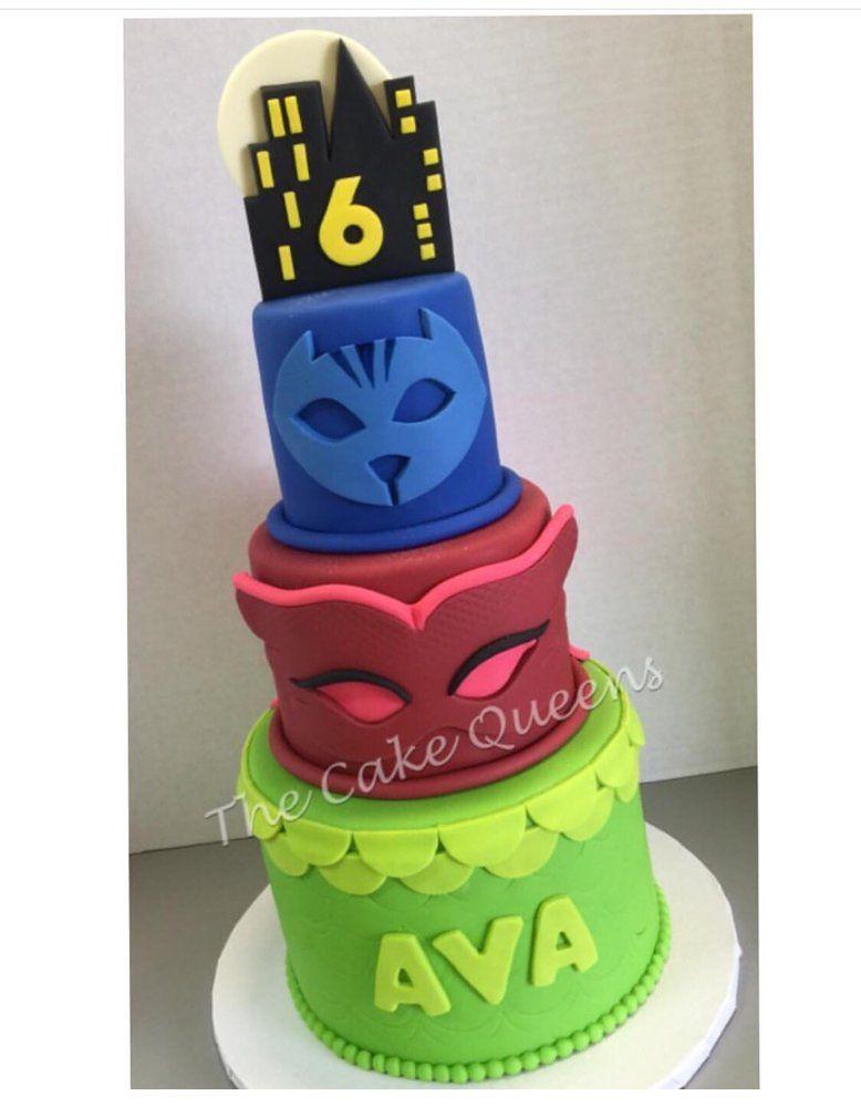 Pj Masks Birthday Cake Pj Masks Pattern Pj Masks Birthday Cake