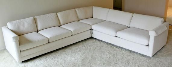 L Shaped White Sectional Sofa