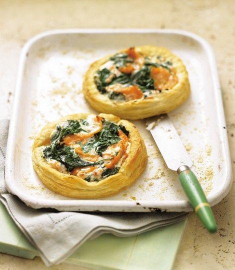 Cheat's salmon and cream cheese tarts recipe | del