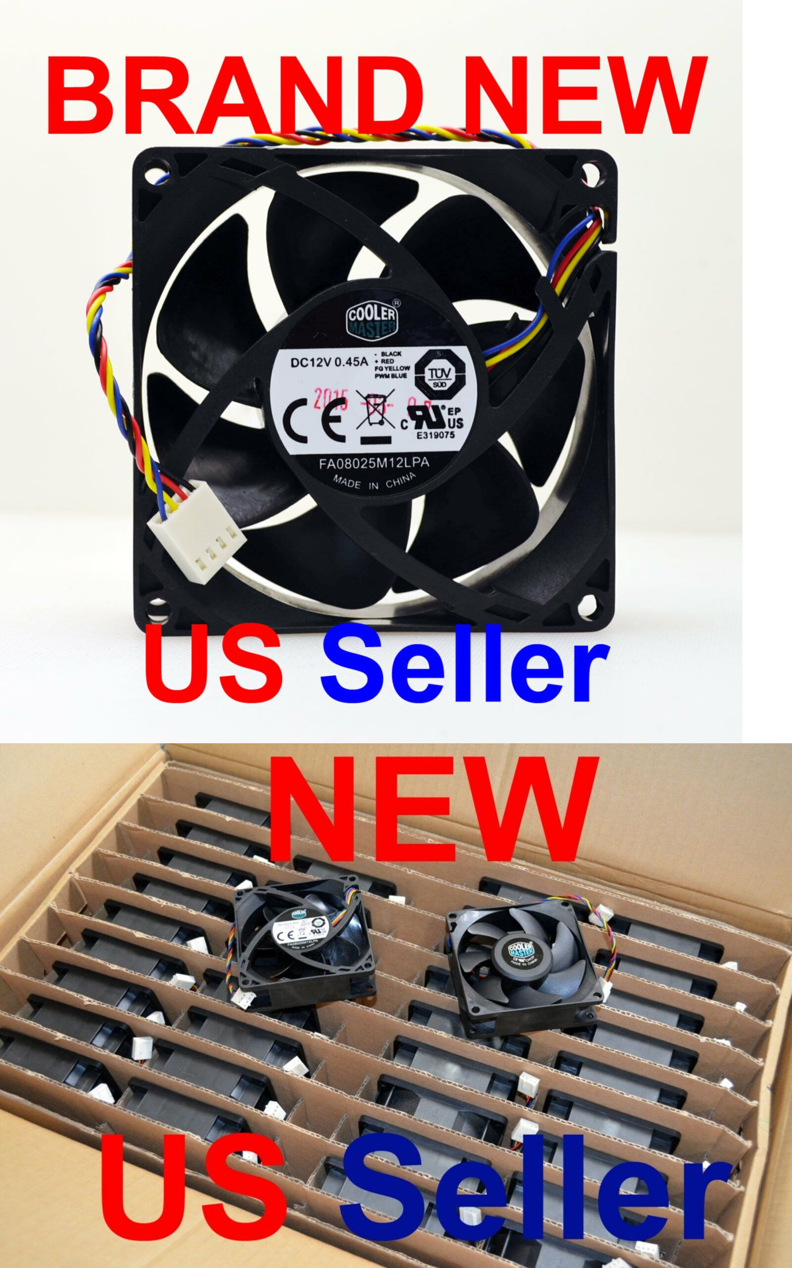 CPU Fans and Heat Sinks 131486: Cooler Master Fa08025m12lpa Dc12v