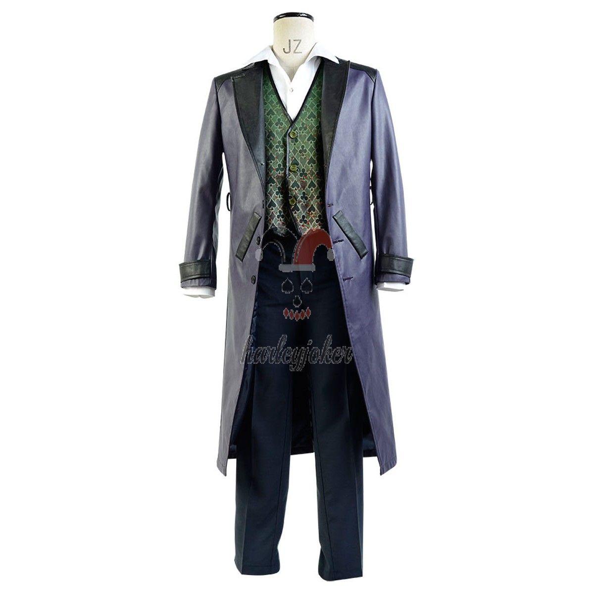 Arkham Origins Blackgate The Joker Cosplay Costume Full Set New