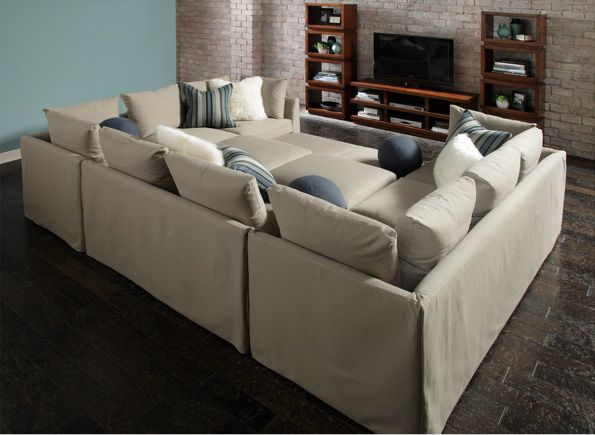 sectional pit couch.