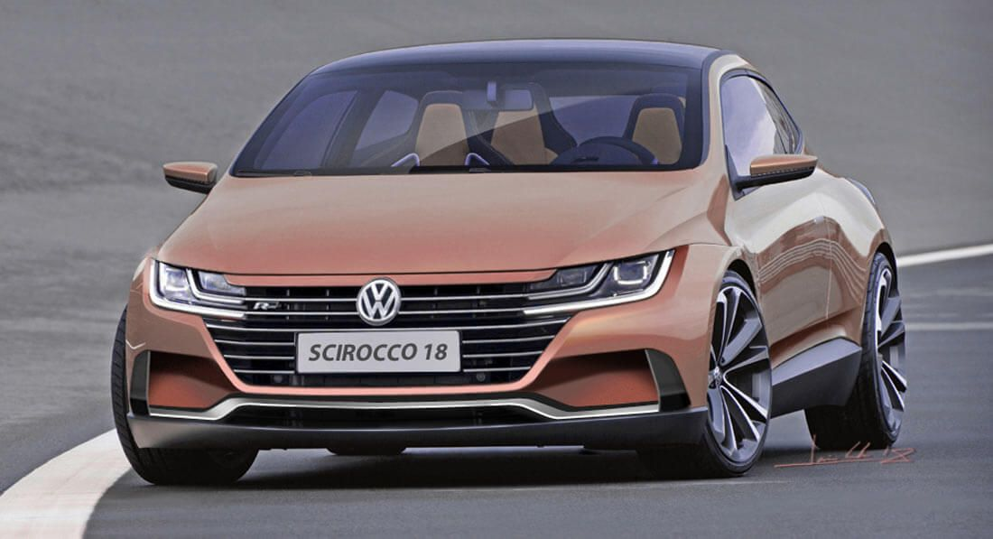 A Scirocco Successor Would Kill It With Vw S New Styling Carscoops Volkswagen Scirocco Vw Amarok Volkswagen
