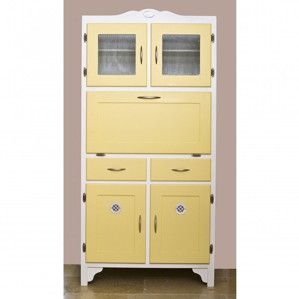 Betty Twyford Retro Yellow Kitchen Cabinet Hoosier ...