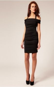 Black Sheath/Column Halter,Off The Shoulder Natural Short/Mini Short Sleeve Satin Zipper Up Homecoming Dress Dress