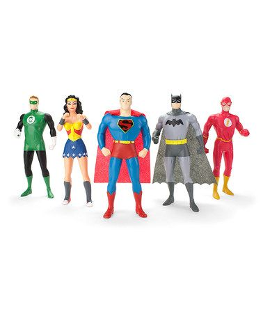 Look what I found on #zulily! Five-Piece Justice League Action Figure Set #zulilyfinds