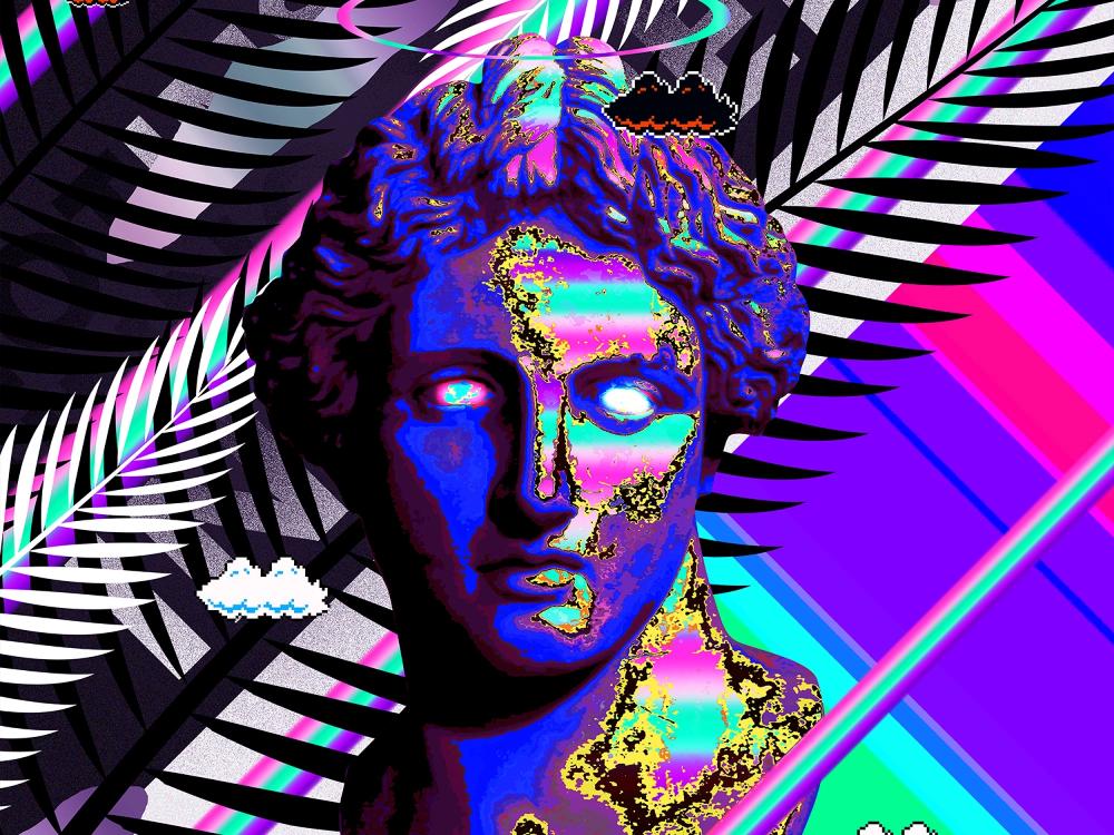 vaporwave statue - Google Search in 2020   Vaporwave ...