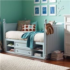 young america myhaven twin daybed storage drawers becker