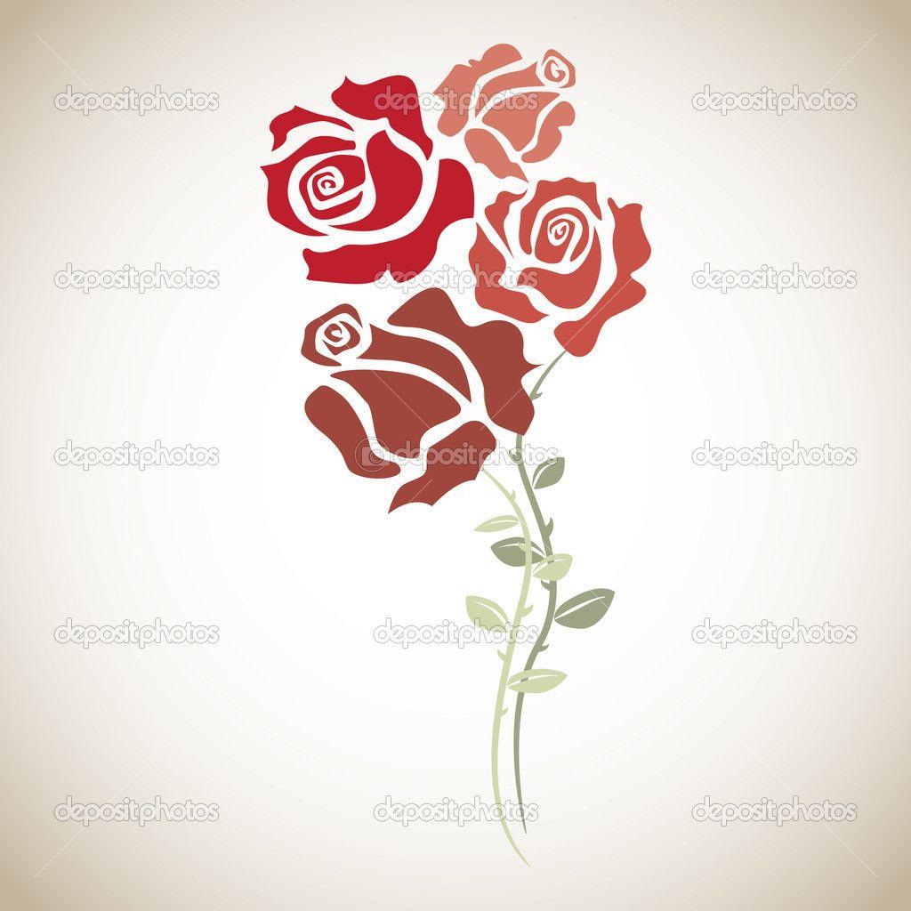 Rosas Rojas Para Dibujar A Color Buscar Con Google Flores