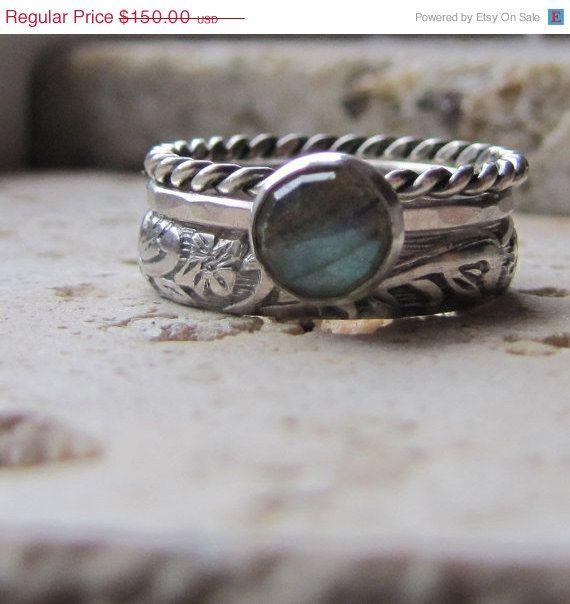 20 PERCENT OFF Handmade Labradorite Engagement Ring by tinahdee