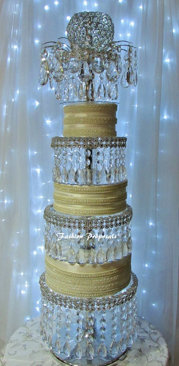 crystal cake stand wedding acrylic cake stand lavish tower the 4 tier 3203