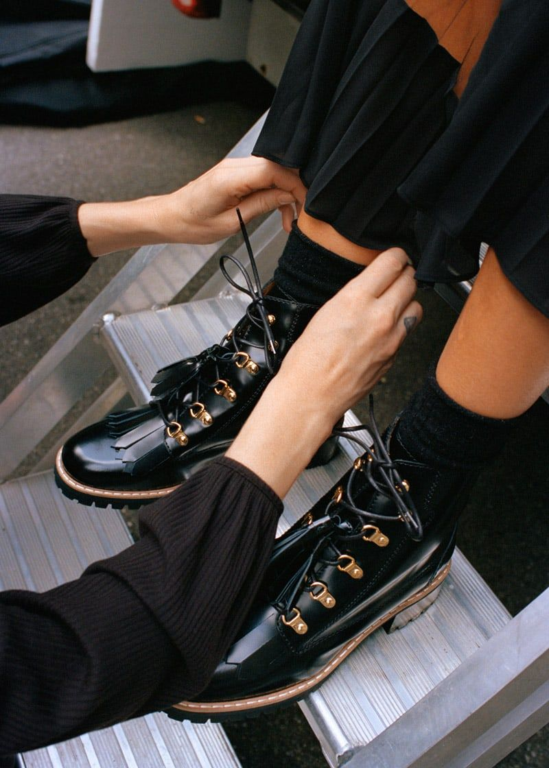 f12baf4a19   Other Stories Tassel Lace Up Boots