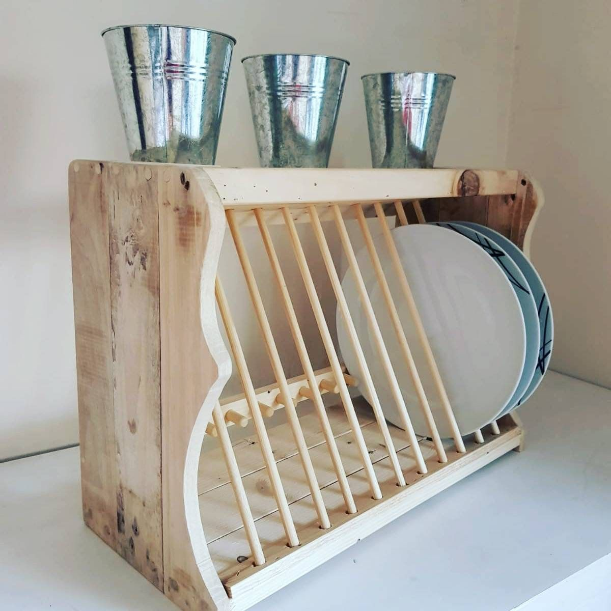 Plate Rack Plate Storage Kitchen Storage Plates Open Etsy