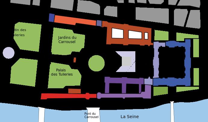 Plan Du Louvre Louvre Palace Louvre Louvre Paris