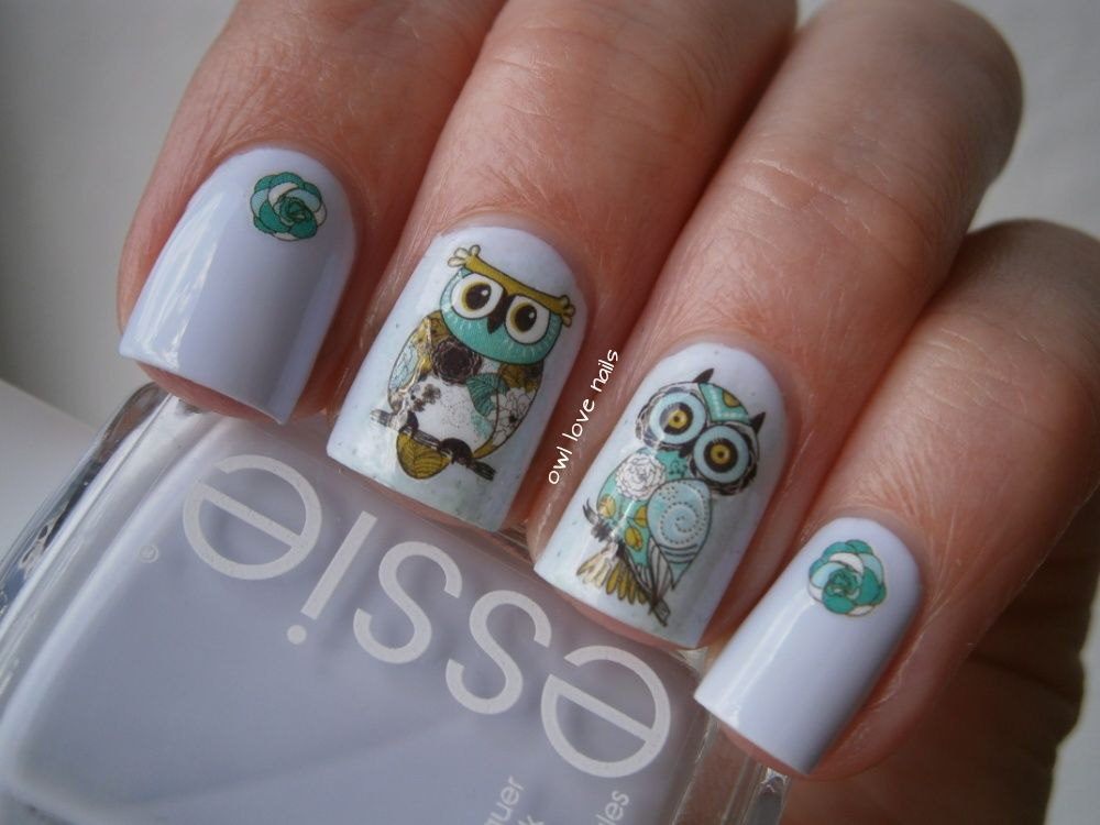Nail Art Water Decals Transfer Stickers Cute Animal Owl Elephant Pattern Sticker BOP125/124 - BornPrettyStore.com