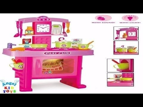 đồ Chơi Nấu ăn Kitchen Set Cooking Toy Food Playdoh Barbie Family